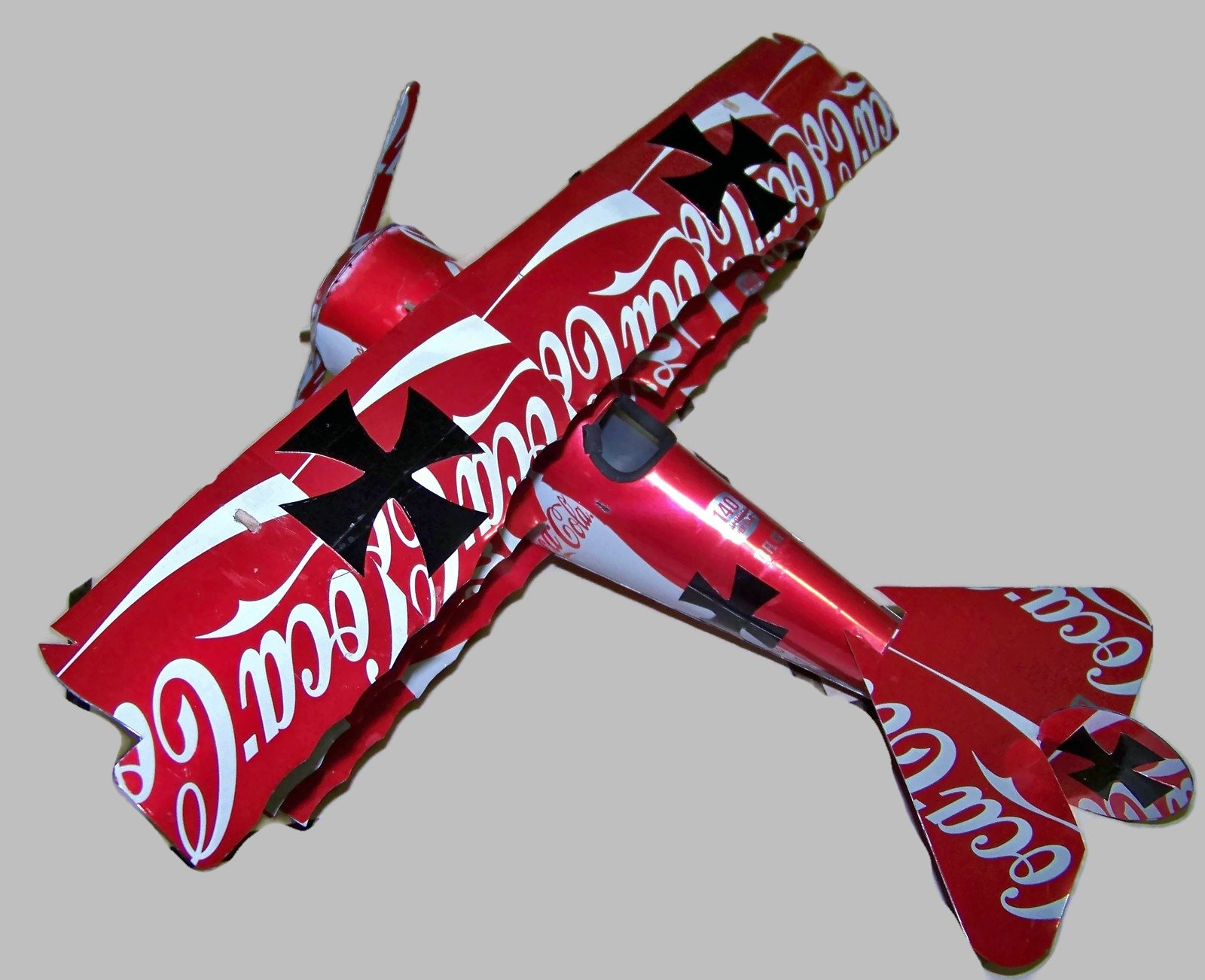 soda can airplane Red baron triplane