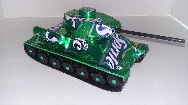 soda can T-34 tank