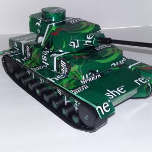 soda can Panzer IV tank