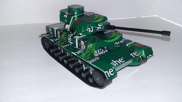 soda can Panzer IV tank