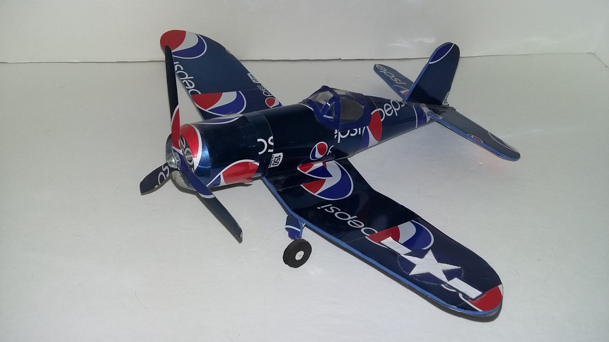 soda can airplane F4u corsair