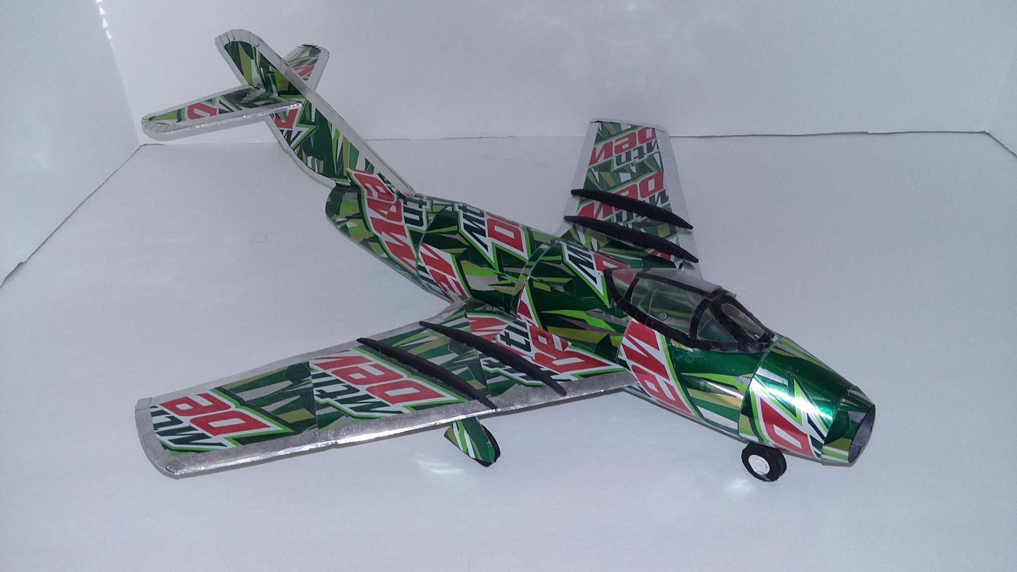 soda can airplane MiG 15 Bis