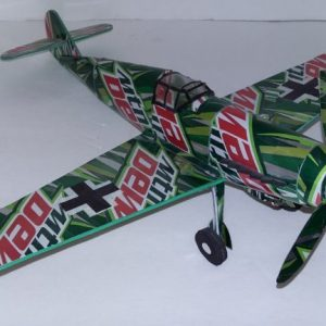 soda can airplane Me-109