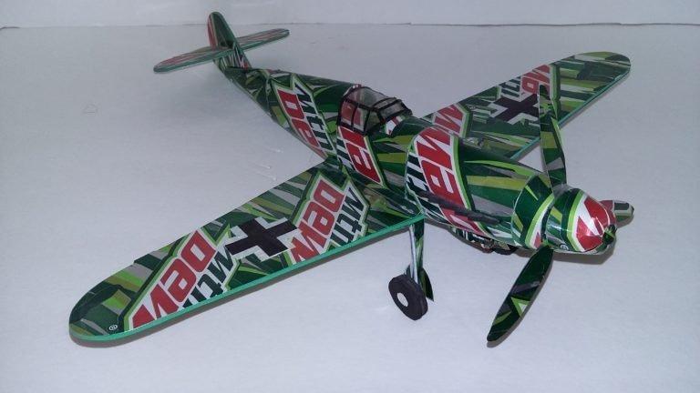 Messerschmitt BF-109 soda can Plans