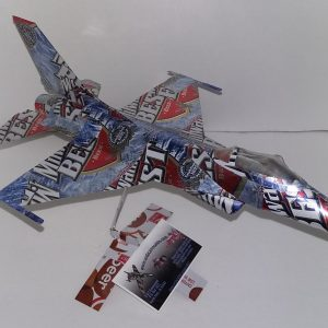 soda can airplane F-16 falcon