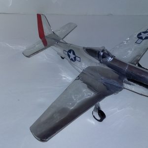 soda can airplane P-51 Red Tail
