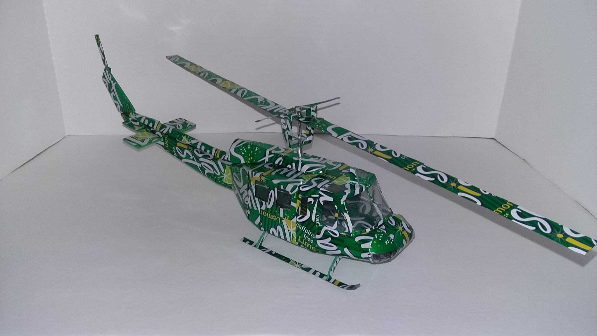 soda can huey helicopter