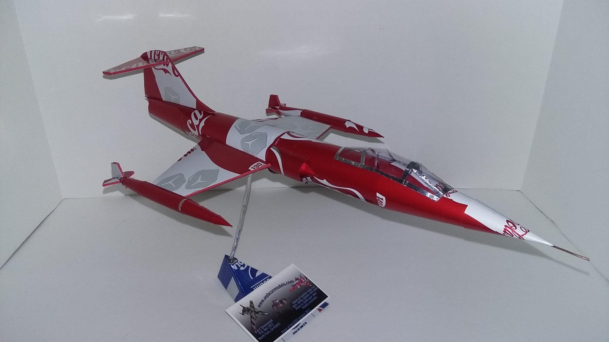 soda can airplane F-104