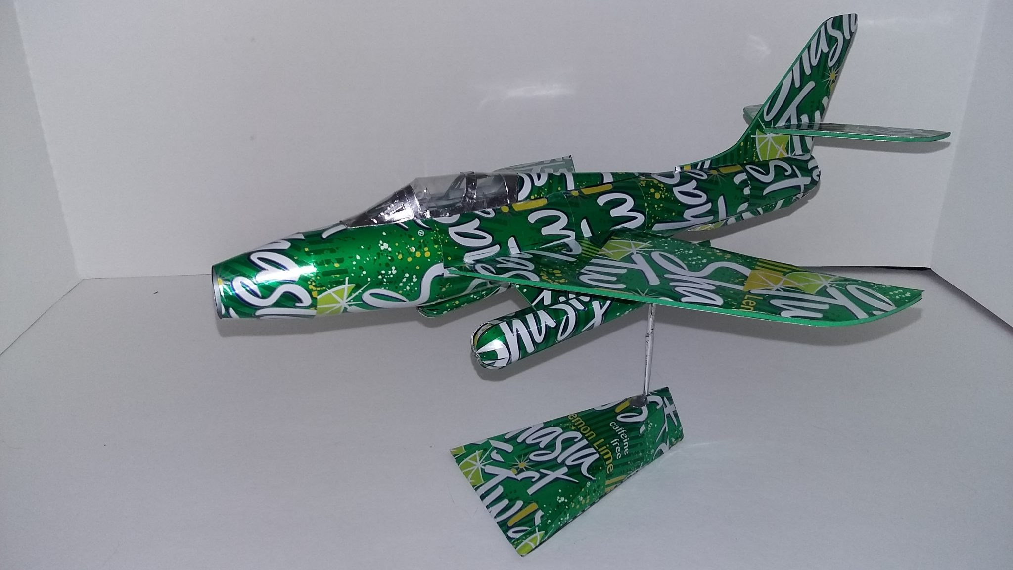 soda can airplane F-84