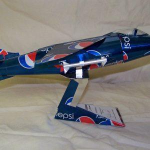 Soda can airplane Harrier