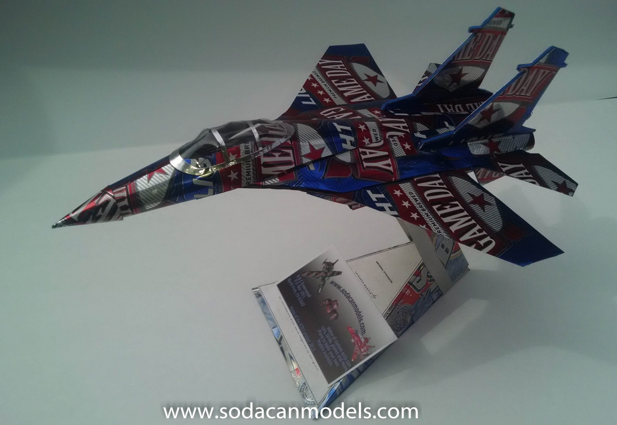soda can airplane Su-27