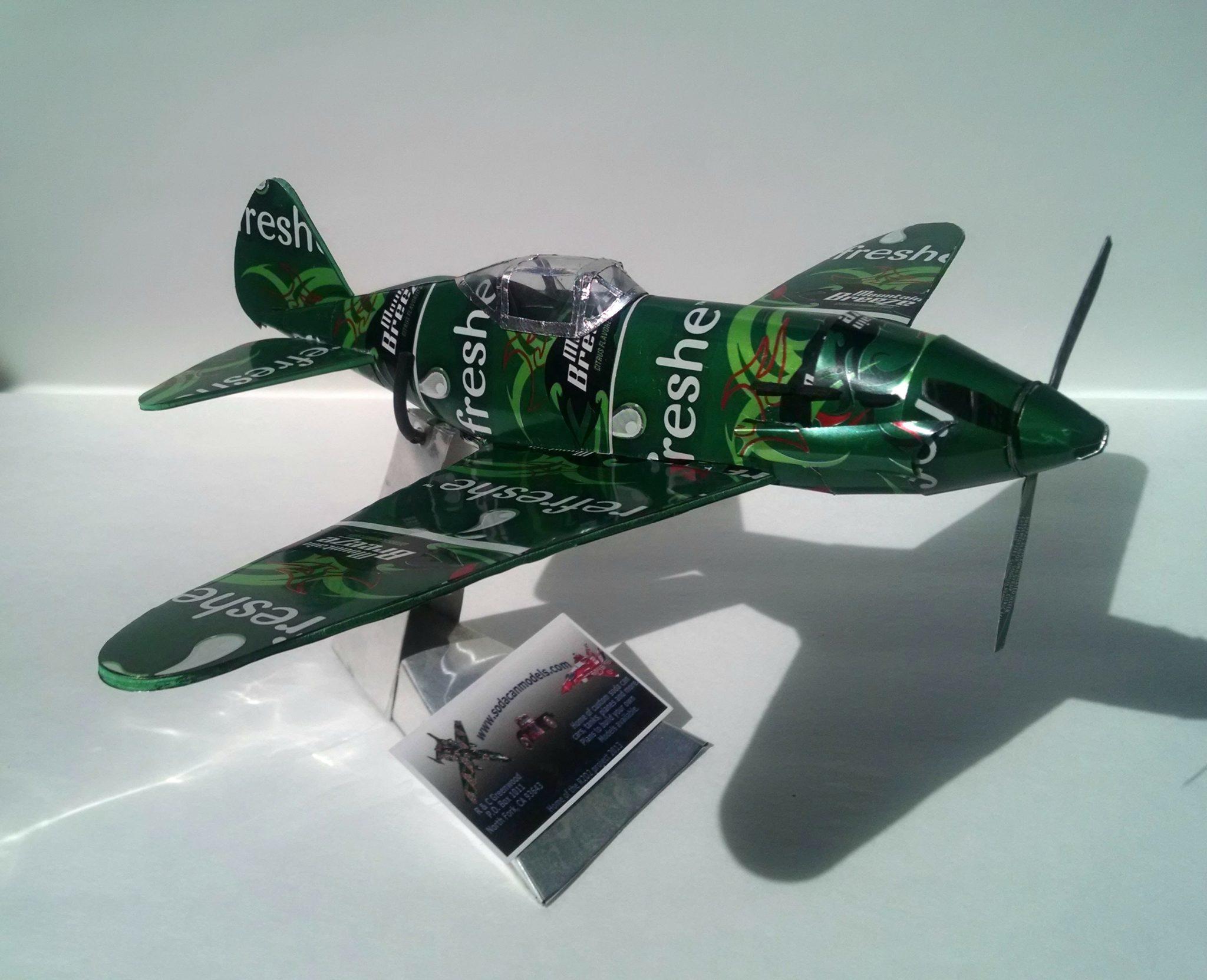 soda can airplane Mig 3