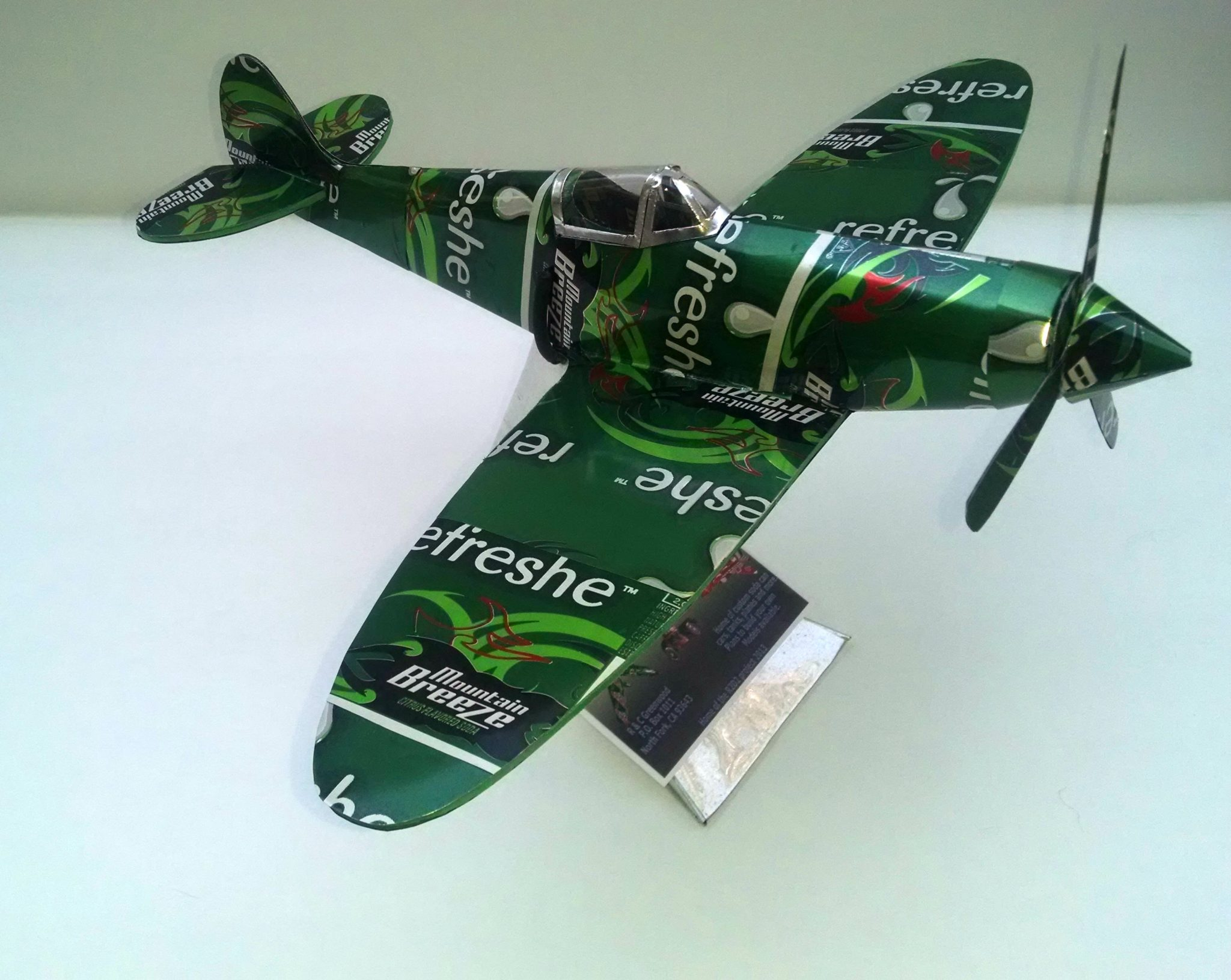 soda can airplane spitfire