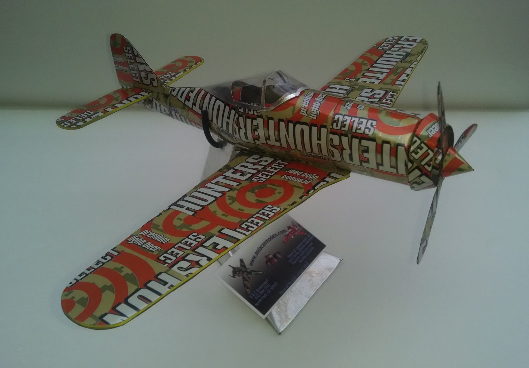 soda can airplane fw-190