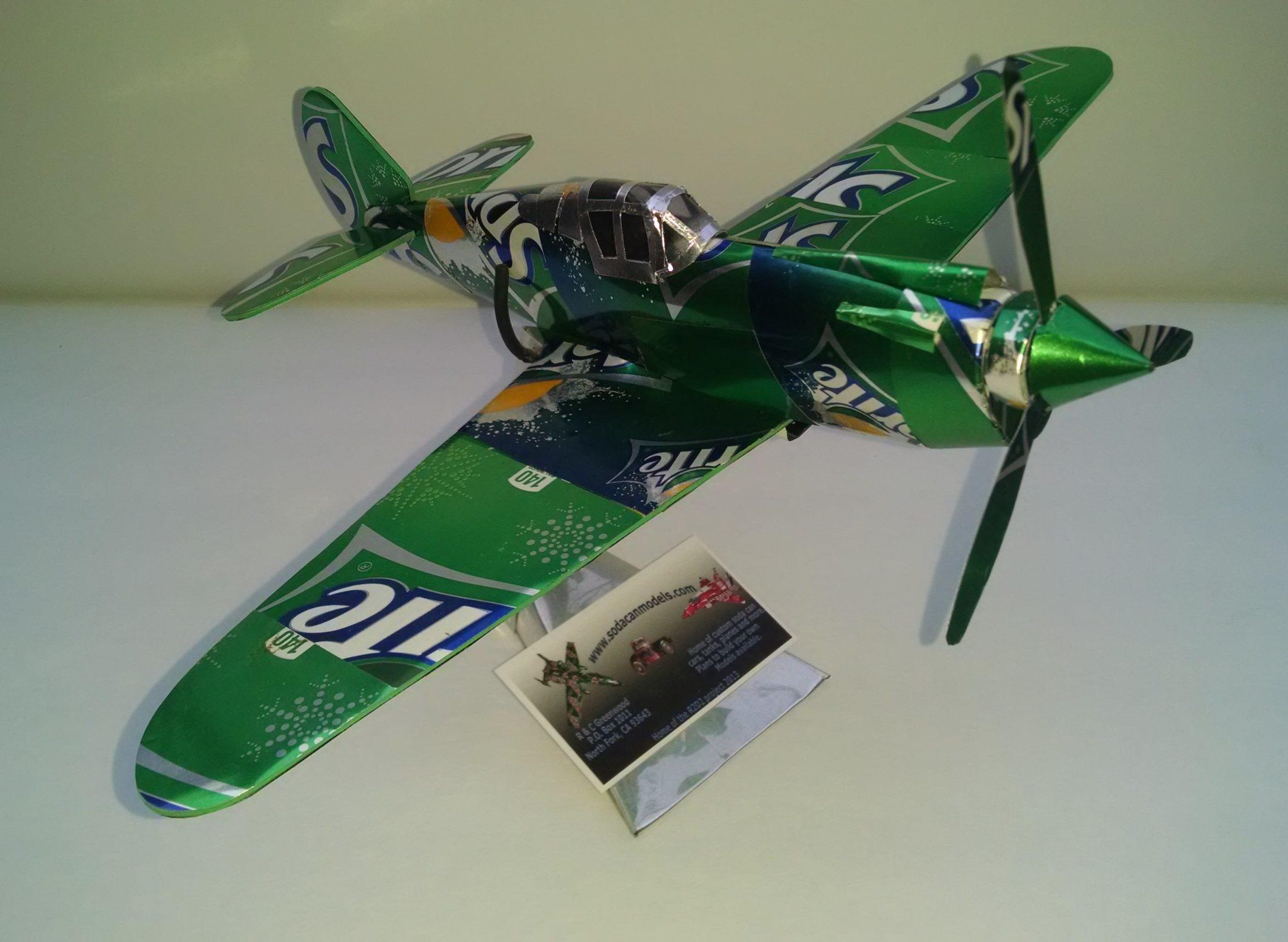 soda can P-40 warhawk