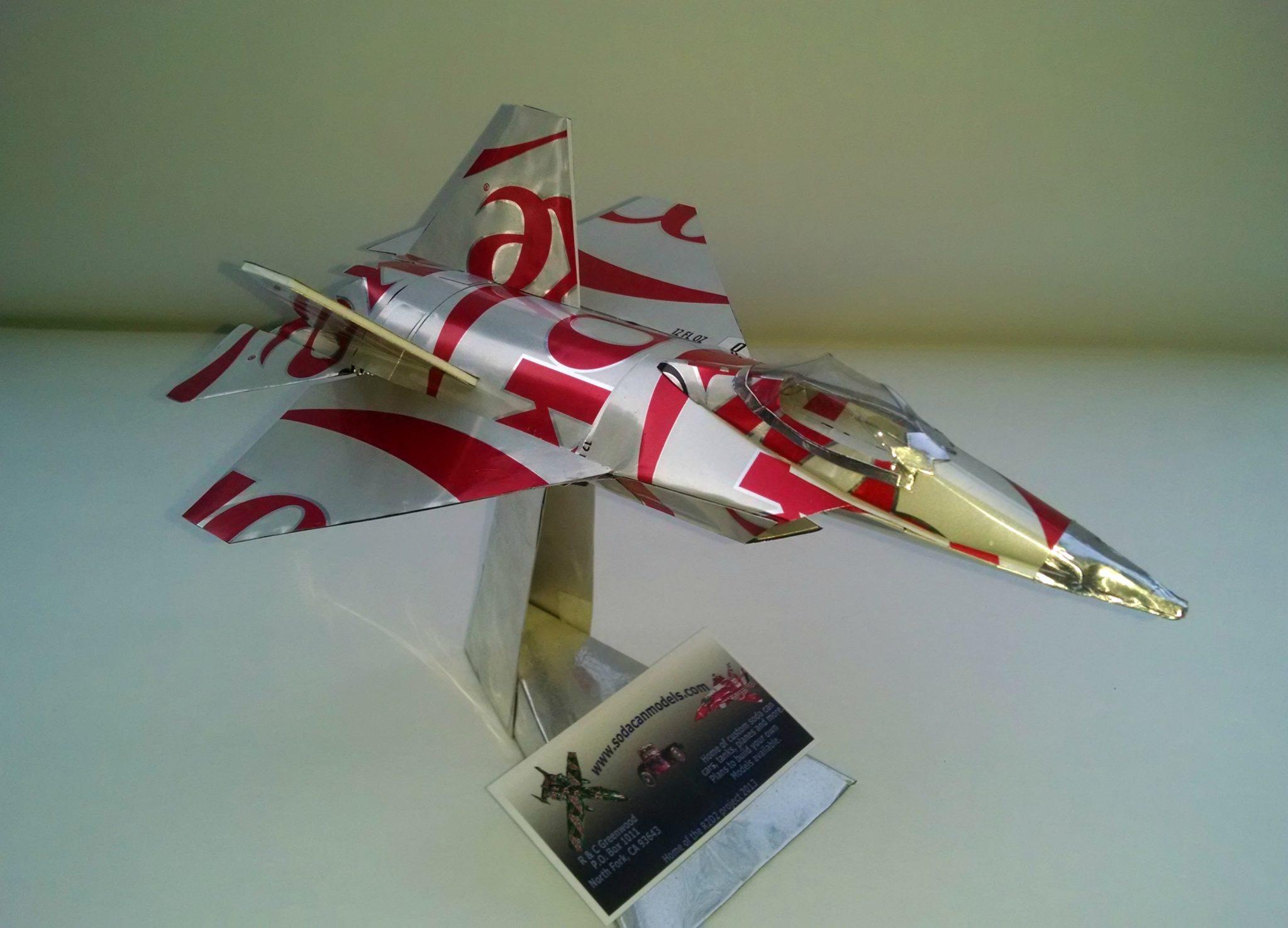 soda can F-22 raptor