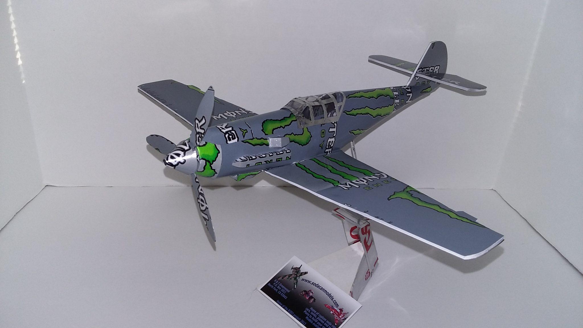 soda c an airplane Me-109