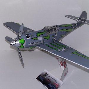 Aluminum can plane instructions ME Bf109E
