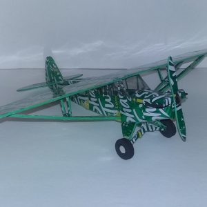 soda can airplane piper cub