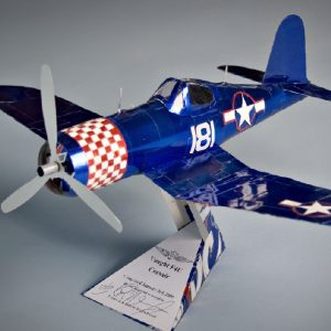 soda can airplane F4u