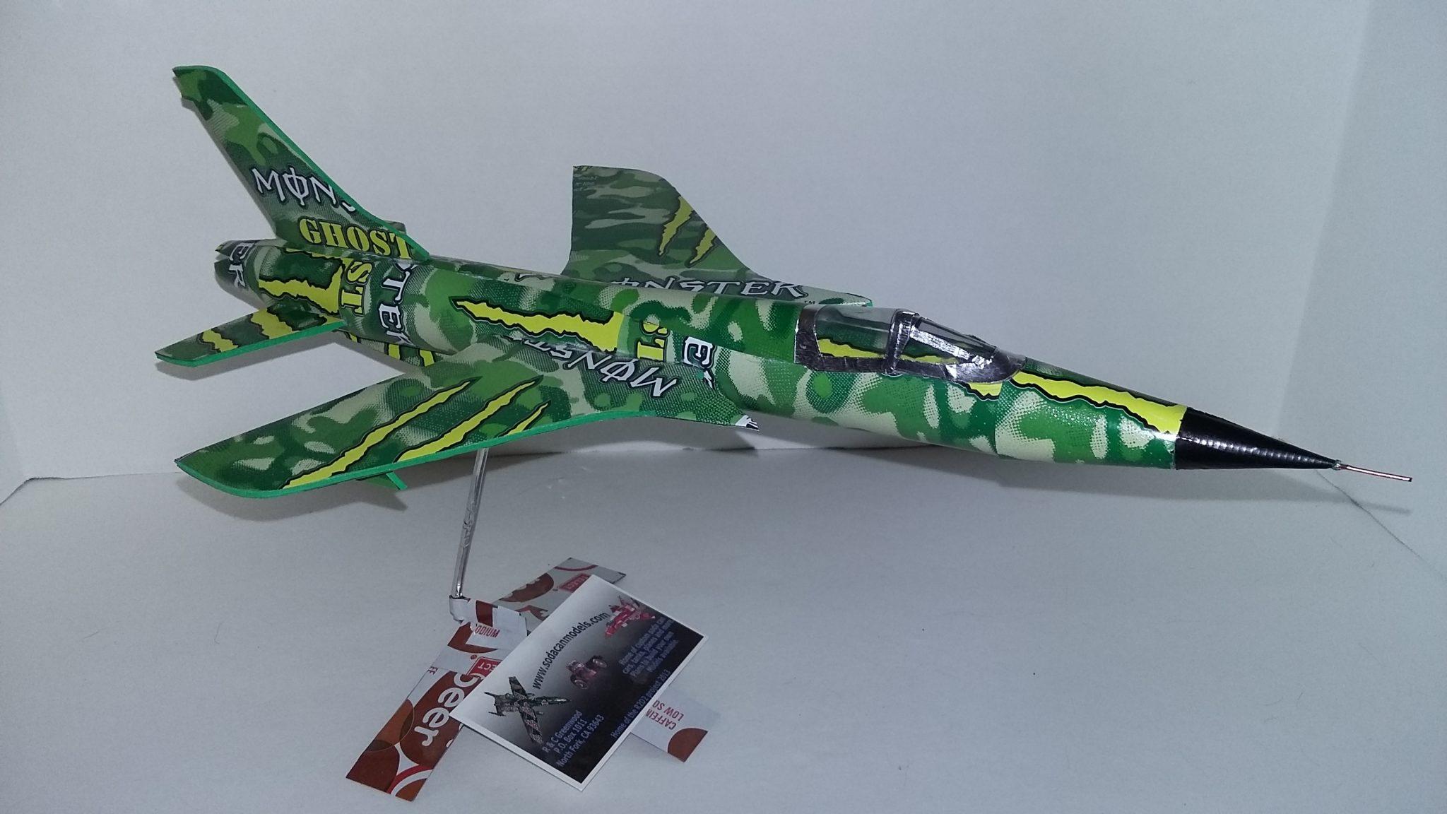 soda can airplane F-105