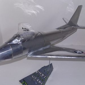 soda can airplane F-86 Sabre