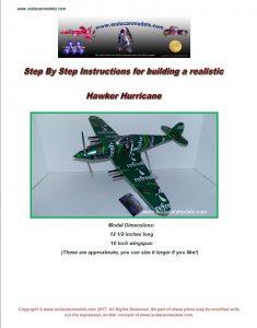 Hawker Hurricane soda can airplane