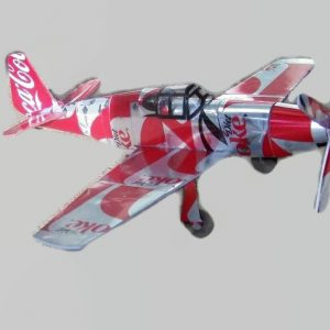 soda can airplane P-51B