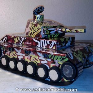 soda can Panzer III Tank