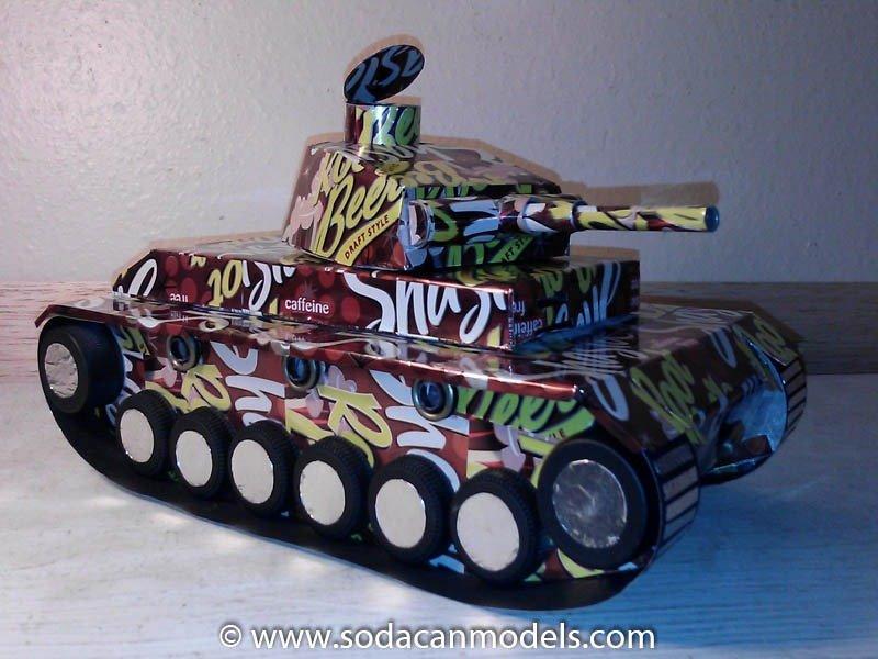 soda can Panzer III Tank