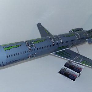 soda can airplane Douglas DC-9