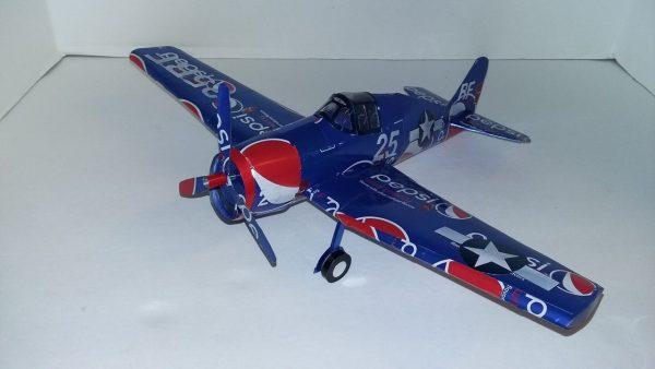 Soda can plane instructions F6F Grumman Hellcat