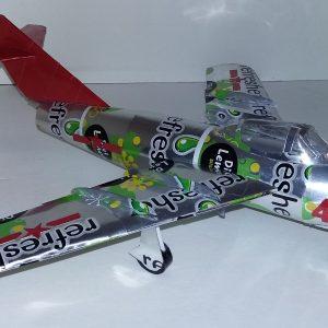 soda can airplane MiG 15