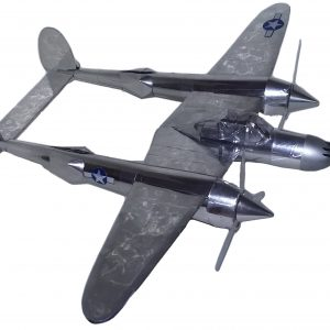 soda can airplane p-38