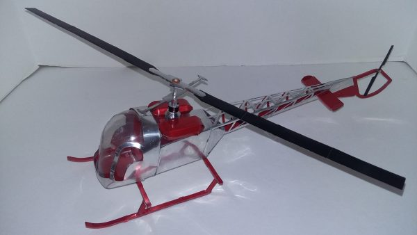 soda can Bell 47G helicopter